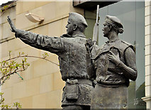 J2664 : UDR memorial sculpture, Lisburn (2) by Albert Bridge