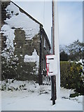 SE6691 : A  Snowed  up  Letterbox  at  Hope  Inn  Farm by Martin Dawes
