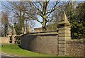 SE3059 : Gate piers and walls at South Lodge, Nidd by Derek Harper