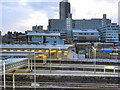 SK3587 : Sheffield Station and The Hallam University by David Dixon