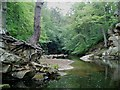 NY9562 : Devils Water Entering Swallowship Gorge by Paul Franks