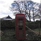 SK2890 : Phone box at Stacey Bank by Rudi Winter