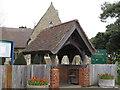 TM3135 : St Peter and St Paul, Felixstowe: Lych Gate by Roger Jones
