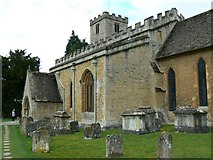 SP1106 : South elevation, Church of St Mary, Church Road, Bibury, Gloucestershire by Brian Robert Marshall