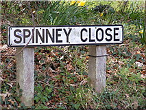 TM3864 : Spinney Close sign by Adrian Cable