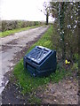 TM3671 : Sibton Green Grit Bin by Adrian Cable