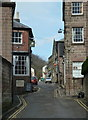 SK2956 : Scarthin, a narrow street in Cromford by Andrew Hill