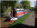 SJ4465 : Working Narrow Boat Hadar moored outside the Cheshire Cat. by Keith Lodge