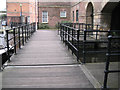 SK3587 : Boardwalk and railings, Victoria Quays by Robin Stott
