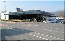 SH5638 : Aldi, Porthmadog by Jaggery