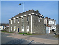 SH5639 : Grade II listed Porthmadog Telephone Exchange by Jaggery