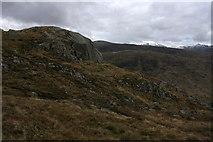 NN0443 : Rock Outcrop below Craig na Cathaig by Roddy Urquhart