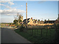 SP4576 : Church Lane, the church and the manor house by Robin Stott