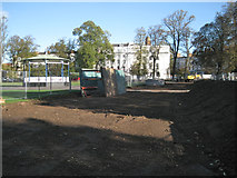 SP3165 : Site of new storm water sewer, Pump Room Gardens by Robin Stott