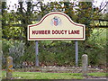 TM1945 : Humber Doucy Lane sign by Adrian Cable