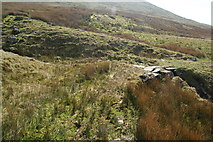 SH6543 : Crossing of a moorland stream by Bill Boaden
