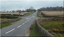 SK2773 : Lane junction with the A621 by Andrew Hill