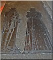 TQ4707 : Brass of Sir Edward & Elizabeth Gage, Firle church by Julian P Guffogg