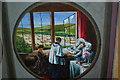 TQ5104 : The Last Rites, Chancel Screen painting, Berwick church by Julian P Guffogg