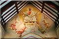 TQ5104 : Christ in Glory Mural, Berwick Church by Julian P Guffogg