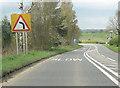 SJ5559 : A49 approaching Wild Boar Hotel by John Firth