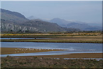 SH5738 : Afon Glaslyn and Traeth Mawr by Bill Boaden
