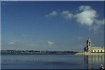 SK9306 : Normanton church, Rutland Water by Christopher Hilton