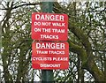 SD8304 : Tramway warning signs by Andrew Tatlow