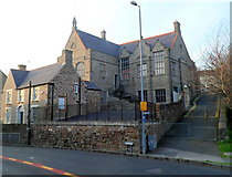 SH4862 : Southern side of former Board School, Caernarfon by Jaggery