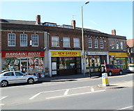 SO8317 : Four Stroud Road shops, Gloucester by Jaggery
