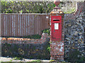 TR3747 : Postbox by the shore by Stephen Craven