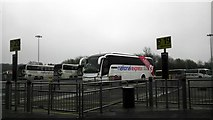 TL5523 : Coaches at Stansted Airport by PAUL FARMER
