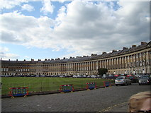 ST7465 : View of the terrace from Royal Crescent by Robert Lamb