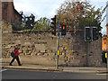 SP2864 : Repaired wall, Jury Street by Robin Stott