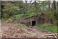 NT3038 : Culvert in old railway embankment, Cardrona by Jim Barton