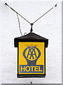 NS4788 : AA Hotel Sign by David Dixon