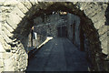 SU4111 : Southampton: Blue Anchor Lane, seen through an arch in the town walls by Christopher Hilton