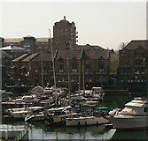 TQ3680 : Limehouse Basin from the DLR by Christopher Hilton