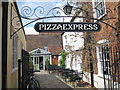 TR1457 : Pizza Express courtyard by Oast House Archive