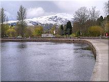 NN6207 : Callander, River Teith and Ben Ledi by David Dixon