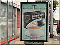 "J3574 : ""Titanic"" tea advertisement, Belfast by Albert Bridge"