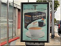 "J3574 : ""Titanic"" tea advertisement, Belfast by Albert Bridge"