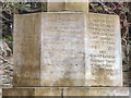 NS3592 : Base of War Memorial by David Dixon
