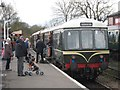 TQ8833 : Diesel train at Tenterden Station by Oast House Archive