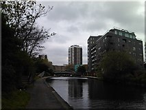 TQ3681 : View of Anglia House, Salmon Lane from the Regent's Canal by Robert Lamb
