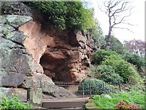 SJ8383 : The cave in the garden, Quarry Bank by Christine Johnstone