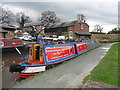 SJ4034 : Working Narrow Boat Hadar moored at Ellesmere Junction by Keith Lodge