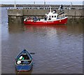 NU2604 : Puffin Cruises embarking at Amble Harbour by Andrew Curtis