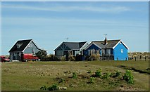 TM5075 : Wooden houses near Southwold Harbour by nick macneill