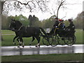 TQ2880 : Soldiers in horse-drawn carriage in Hyde Park by David Hawgood